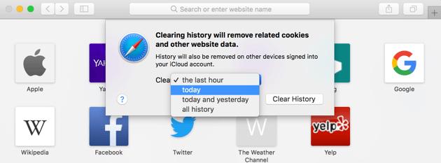 如何在Safari上清除Cookie