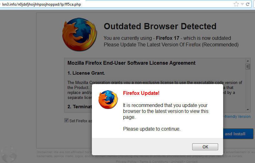 更新Firefox瀏覽器