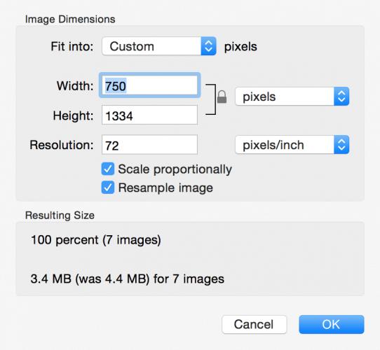 調整多圖像Mac的大小
