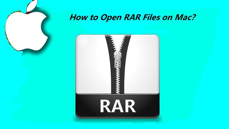 如何在Mac上打開RAR文件