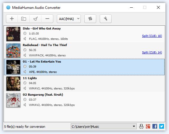 使用音頻轉換器將M4A轉換為MP3