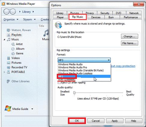 在Windows Media Player中將WMA轉換為MP3